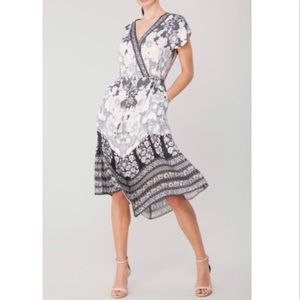 Hale Bob Marjolaine Handkerchief Hem Dress